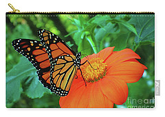 Monarch On Mexican Sunflower Carry-all Pouch