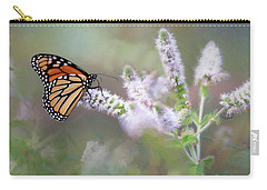 Carry-all Pouch featuring the photograph Monarch On Mint 1 by Lori Deiter
