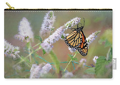 Carry-all Pouch featuring the photograph Monarch On Mint 2 by Lori Deiter