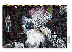 Carry-all Pouch featuring the mixed media Monarch Steampunk Goddess by Genevieve Esson