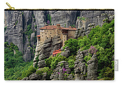 Monastery Of Saint Nicholas Of Anapafsas, Meteora, Greece Carry-all Pouch