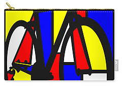 Mondrianesque Road Bike Carry-all Pouch by Sassan Filsoof
