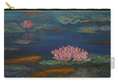 Monet Inspired Water Lilies With Gold Fish In A Pond Carry-all Pouch