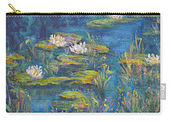 Monet Style Water Lily Marsh Wetland Landscape Painting Carry-all Pouch