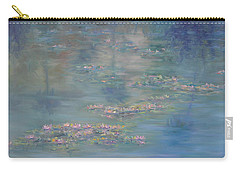Monet Style Water Lily Peaceful Tropical Garden Painting Print Carry-all Pouch
