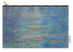 Monet Style Water Lily Pond Landscape Painting Carry-all Pouch