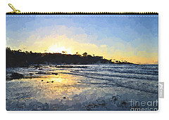 Monet Sunset At La Jolla Shores Carry-all Pouch