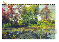 Carry-all Pouch featuring the photograph Monet's Afternoon by John Rivera