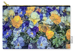 Monet's Pansies Carry-all Pouch