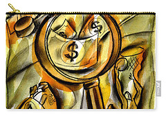 Carry-all Pouch featuring the painting Money And Professional Sports   by Leon Zernitsky