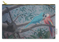 Monkey Artist Painting The Moon  Carry-all Pouch