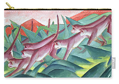Monkey Frieze Carry-all Pouch by Franz Marc