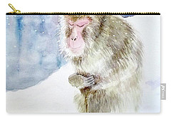 Monkey In Meditation Carry-all Pouch