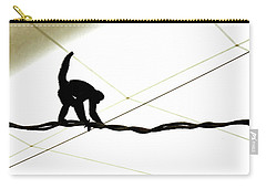 Monkey On A Wire Carry-all Pouch