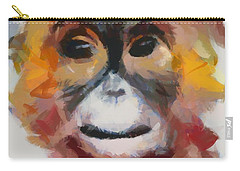 Monkey Splat Carry-all Pouch by Catherine Lott