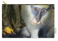 Monkey With His Mango Carry-all Pouch