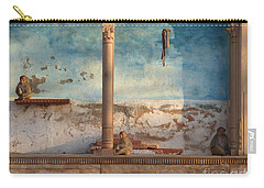 Carry-all Pouch featuring the photograph Monkeys At Sunset by Jean luc Comperat