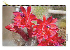 Monkey's Tail Cactus Flower Carry-all Pouch