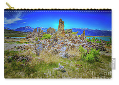 Carry-all Pouch featuring the photograph Mono Lake, South Tufa's by Craig J Satterlee