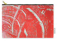 Carry-all Pouch featuring the drawing Mono Print 001 - Rotation by Mudiama Kammoh