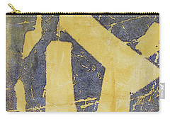 Carry-all Pouch featuring the drawing Mono Print 005 - Broken Steps by Mudiama Kammoh