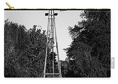 Monochrome Abandoned Windmill Whisper Windmill   Carry-all Pouch