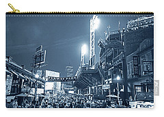 Monochrome Blue Nights Boston Ma Lansdowne St Fenway Park Game Night Carry-all Pouch
