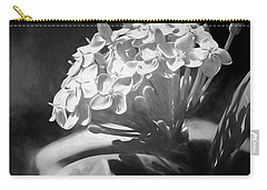Monochrome Flora Carry-all Pouch