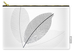 Monochrome Leaves Carry-all Pouch