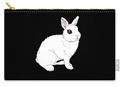 Monochrome Rabbit Carry-all Pouch