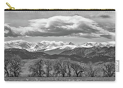 Carry-all Pouch featuring the photograph Monochrome Rocky Mountain Front Range Panorama Range Panorama by James BO Insogna