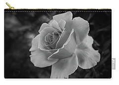 Monochrome Rose Macro Carry-all Pouch