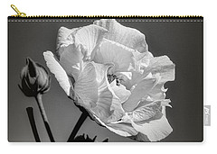 Carry-all Pouch featuring the photograph Monochrome Rose Of Sharon by Elaine Teague