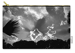 Monochrome Sunburst Carry-all Pouch by Eric Liller