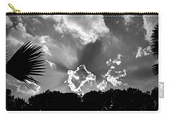 Monochrome Sunburst Carry-all Pouch