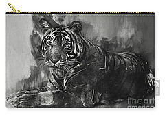 Monochrome Tiger Carry-all Pouch