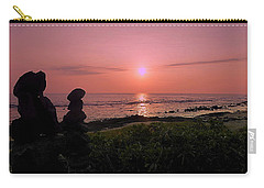 Carry-all Pouch featuring the photograph Monoliths At Sunset by Lori Seaman