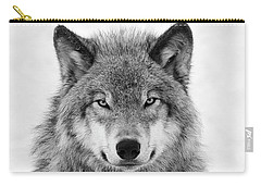 Monotone Timber Wolf  Carry-all Pouch