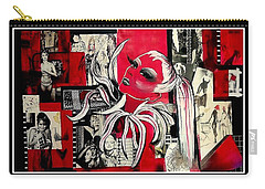 Monroe And Bardot Collage Carry-all Pouch