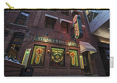 Carry-all Pouch featuring the photograph Monroe St Steakhouse by Nicholas Grunas