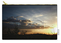 Carry-all Pouch featuring the photograph Monsoon Sunset 2016 by Elaine Malott