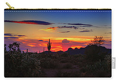 Carry-all Pouch featuring the photograph Monsoon Sunset by Rick Furmanek
