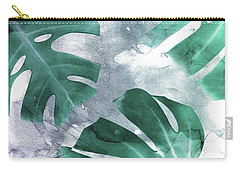 Monstera Theme 1 Carry-all Pouch by Emanuela Carratoni