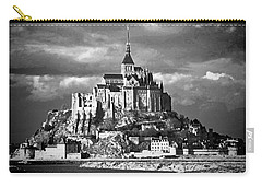 Carry-all Pouch featuring the photograph Mont Saint Michel by Elf Evans