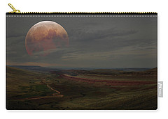 Montana Landscape On Blood Moon Carry-all Pouch