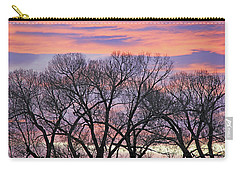 Carry-all Pouch featuring the photograph Montana Sunrise Tree Silhouette by Jennie Marie Schell