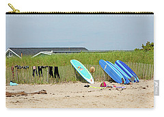 Carry-all Pouch featuring the photograph Montauk Beach Stuff by Art Block Collections