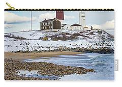 Montauk Lighthouse Winter Beach Carry-all Pouch