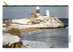 Montauk Lighthouse Winter Bluffs Carry-all Pouch
