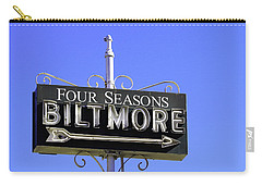 Carry-all Pouch featuring the photograph Montecitio Biltmore Sign by Art Block Collections